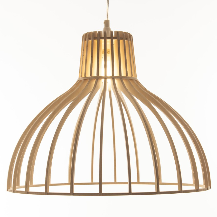 Timber Light Fitting